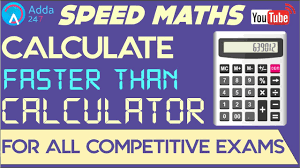 speed maths calculate faster than calculator sbi po mains ssc