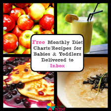 free monthly food chart for babies toddlers delivered by mail my