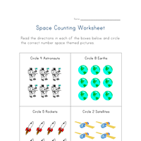 space worksheets all kids network
