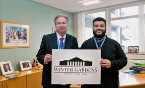 former weston college student designs winter gardens logo dr