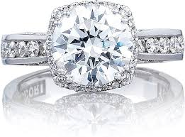 channel set engagement rings tacori channel set engagement ring w cushion bloom 264635rdc