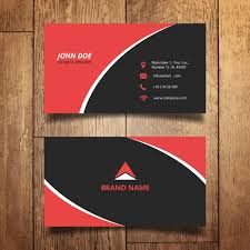 E Business Cards Free Red And Black Modern Business Card Vector Free Download