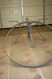 Circular Patio Seating To Create A Concrete Table Top For Your Patio Table