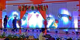 reception and wedding stage decoration at shri janani thirumana