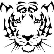tribal tiger hoodie spreadshirt