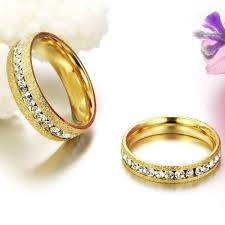gold wedding rings aliexpress buy trustylan anelli diamanti gold color