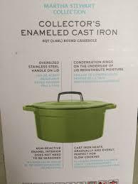 martha stewart collector u0027s enameled cast iron round casserole review