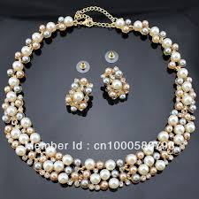 aliexpress necklace set images Buy pn12365 classic imitation pearl jewelry sets jpg