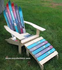 Outdoor Furniture Made From Recycled Materials by Green Mountain Ski Furniture Repurposes Your Old Skis Green Talk