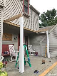 front porch pergola for our farmhouse lehman lane