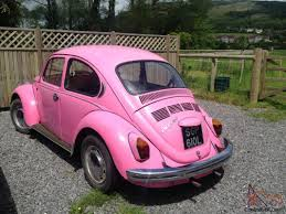 pink volkswagen beetle for sale 1972 volkswagon vw beetle original bubblegum pink tax exempt