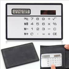 calculator sle size gtfs hot new slimline travel outdoor white solar powered 8 digits