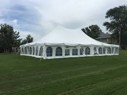 Tent In Backyard by Backyard Wedding Reception Under A Tent In Kalona Iowa