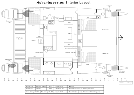 interior layout san diego sailing catamaran layout amenities adventuress