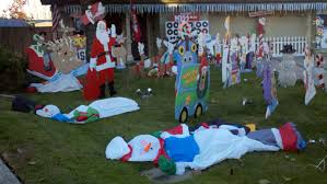 christmas lawn decorations massacred curator curiosities
