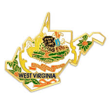 State Flag Of Virginia Amazon Com Pinmart U0027s State Shape Of West Virginia And West