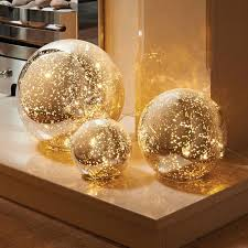 mercury glass ball lights 3 mercury glass ball lights set warm white led string lights
