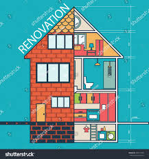 House Flat Design by Renovation House Remodelingflat Design Vector Stock Vector