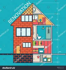 renovation house remodelingflat design vector stock vector
