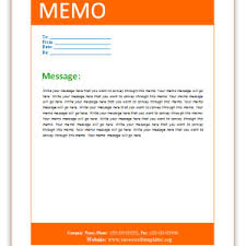 microsoft word memo template for business with orange header and
