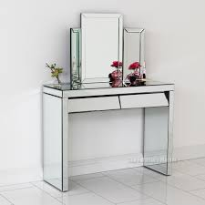 glass vanity table with mirror ceiling mirrored vanity table with mirror plus drawers for chic