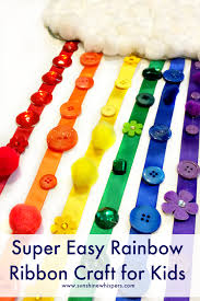 craft ribbon easy rainbow ribbon craft for kids 1 png