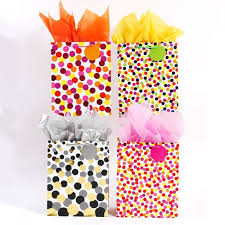 metallic gift bags large confetti party metallic polka dot gift bags