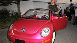 volkswagen beetle pink heidi klum u0026 volkswagen present customised pink barbie new beetle