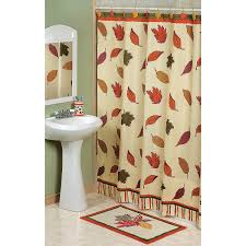 fall leaves shower curtain terrysvillage thanksgiving