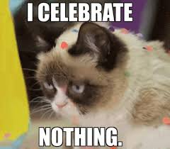Grumpy Cat Meme Happy - depressed happy birthday gif find share on giphy