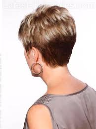 wedge haircut with stacked back layered pixie cut short razor hairstyle is tapered into the back