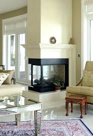 fireplace appealing three sided fireplace design for house two