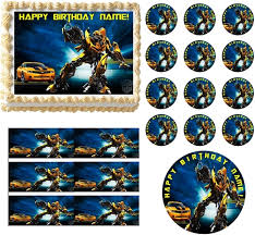 transformer cake topper transformers bumblebee edible cake topper image all sizes