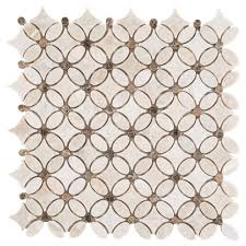 impero reale flower marble mosaic 12in x 12in 100255066