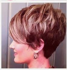 wedge one side longer hair shattered choppy piecy textured pixie with a long draped bang