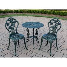 Bistro Patio Table 3 Bistro Patio Set Verdi Green Walmart