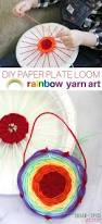 diy paper plate loom rainbow yarn art sugar spice and glitter