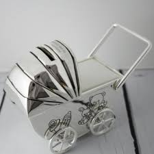 silver plated baby gifts engraved silver plated baby pram money box new baby gifts