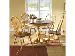 canadel custom dining customizable round table set with 4 chairs