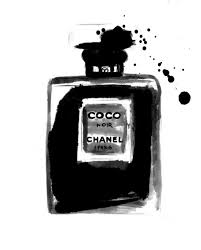image via we heart it black chanel drawing perfume sketch