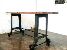 Industrial Dining Table Home Design Glamorous Industrial Dining Table On Wheels Tables