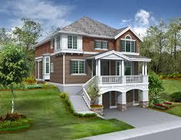 Lake House Plans Walkout Basement Baby Nursery House Plans For Sloped Lots Sloping Lot House Plans
