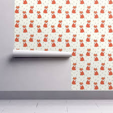 fox home decor creme fox elvelyckan wallpaper by elvelyckan roostery home decor