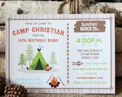 camping invitation camping party invitation camping birthday