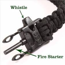 survival bracelet whistle images 4 in 1 flint fire starter whistle outdoor camping survival jpeg