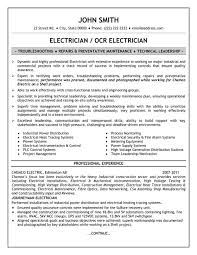 Industrial Maintenance Resume Examples by Residential Electrician Resume Example 10 Ilivearticles Info