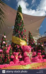 teddy decorations christmas tree and teddy decorations shopping center patong phuket