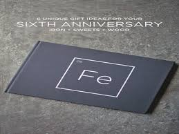 iron anniversary gifts 6 unique 6th year anniversary gift ideas iron and wood