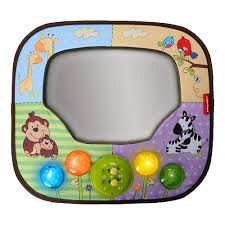 baby car mirror with light fisher price luz music lights mirror brica babies r us