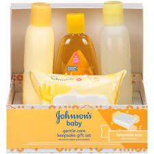 johnson s gentle care keepsake gift set 4 pc walmart com